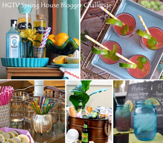 Blogger Challenge: Create an Outdoor Bar Cart for HGTV Spring House (http://blog.hgtv.com/design/2014/03/11/blogger-challenge-create-an-outdoor-bar-cart-for-hgtv-spring-house/?soc=pinterest): Outdoor Ideas, Outdoorliving, Outdoor Living, Outdoor Decorating Gardening, Outdoor Bar Cart, Outdoor Bars