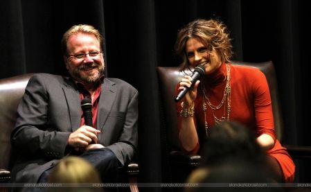 "#StanaKatic & Andrew Marlowe at USC's panel ""An Evening With ABC's Castle"" (2012)"