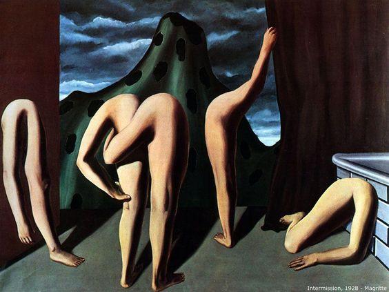 Rene Magritte : 1927 Entrace / Entr'acte.