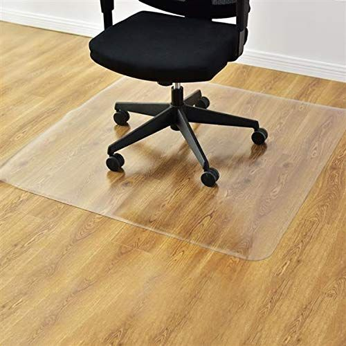 Teeker Home Office Chair Mat Hard Floor Protection Pvc Dull Polish Protection Floor Mat Anti Slip Chairmat Thick And Sturdy 47 24 X 35 43 Inch Rectangular Chair Mats Office Chair Mat Home Office Chairs