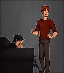 Dick crying after Jason's death and Wally trying to comfort him.