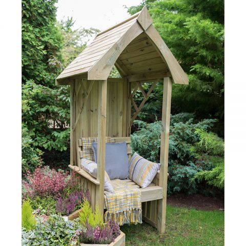 A Unique Single Seat Arbour Offering An Ideal Place To Sit And Relax In Your Garden Small Garden Shelter Arbour Seat Cheap Garden Sheds