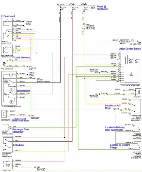 Vw Wiring Harness Diagram Diagram Automotive Electrical Engineering