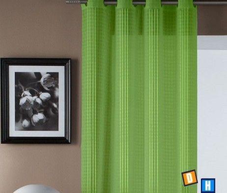 Me gusta el verde las cortinas.