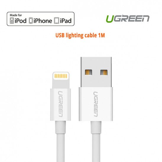 Ugreen Lighting To Usb Cable Mfi Certified Slim Aluminum Connector 1m 20728 Usb Cable Usb Ipad 4th Generation