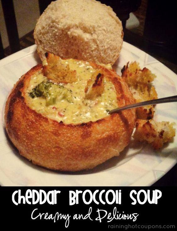 Sopa de queso Cheddar y brocoli