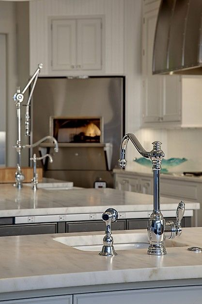 Fantastic classic pot filling faucet in the kitchen from for Craftsman style kitchen faucets