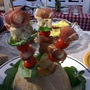 Mozzarella, Prosciutto and Tomato Skewers