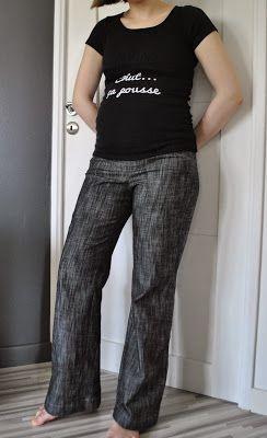Pantalon Flare de grossesse, adaptation couture maison, Mes ptites mains en action