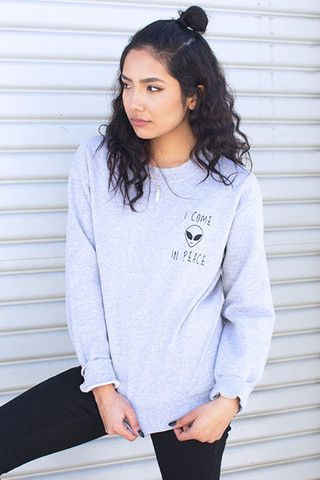 I Come in Peace Sweatshirt | Frankie Phoenix