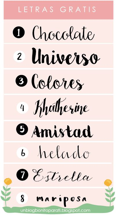 Tipos de letras para hacer cartelitos bonitos