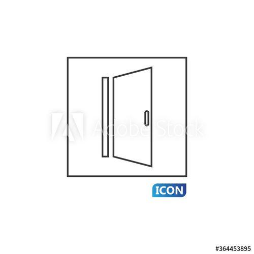 Door Icon Vector Illustration Ad Icon Door Illustration Vector In 2020 Vector Illustration Vector Illustration