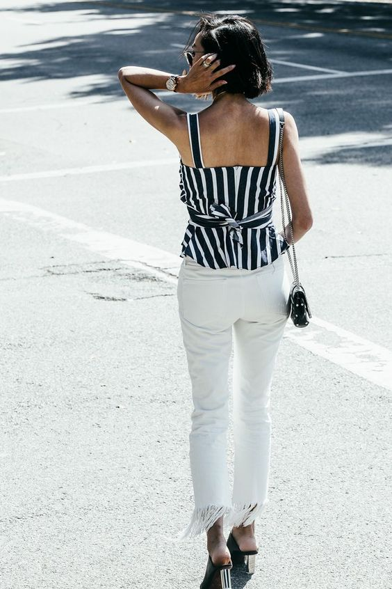 How To Style White Denim For Spring