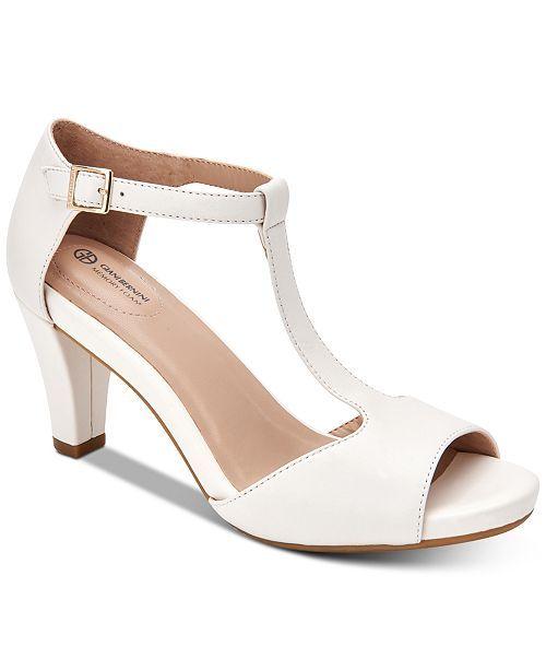 Giani Bernini Claraa Memory Foam Dress Sandals Created For Macy S Reviews Heels Pumps Shoes Macy S Dress Sandals White Dress Shoes Flip Flop Shoes