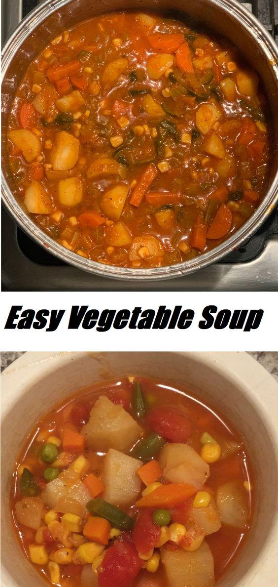 Easy Vegetable Soup #Easy #Vegetable #Soup