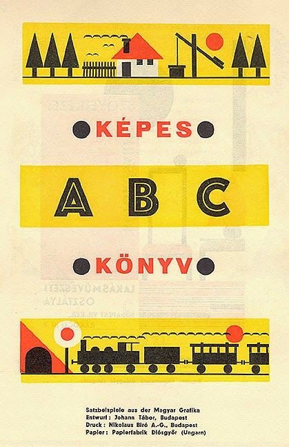 Brochure of Képes Könyvby Hungarian designer Johann Tábor. Published in 1930 in Gebrauchsgraphik. Source: From the collection of David Levine, via Letterology