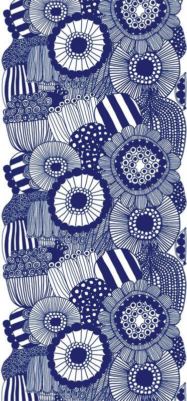 Siirtolapuutarha Panel blå från Marimekko - wow this is very 1970