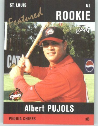 2004 Just Minors Featured Preview Pujols Black #AP3 Albert Pujols - St. Louis Cardinals (Peoria Chiefs / Rookie - Prospect) (Baseball Cards) by Just Minors Featured Preview Pujols Black. $3.14. 2004 Just Minors Featured Preview Pujols Black #AP3 Albert Pujols - St. Louis Cardinals (Peoria Chiefs / Rookie - Prospect) (Baseball Cards)