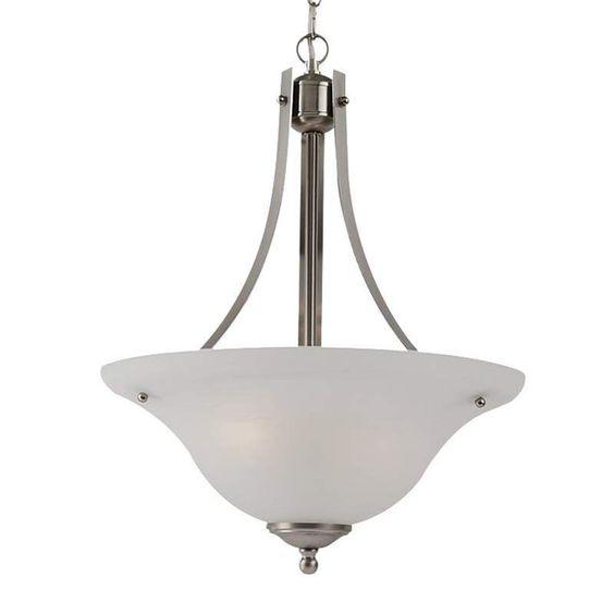 Sea Gull Lighting 65941BLE Windgate 2 Light Energy Star Title 24 Bowl Shaped Pen Brushed Nickel Indoor Lighting Pendants
