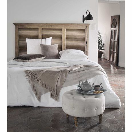 t te de lit 140 en manguier l 160 cm persiennes maisons du monde id es pour la maison. Black Bedroom Furniture Sets. Home Design Ideas