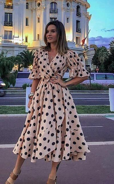 Light Fabric Polka Dot Outfits outfit fashion casualoutfit fashiontrends