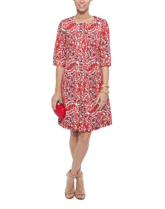 MaxMara- Pesi Printed Cotton and Linen Dress.