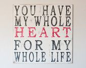 Bedroom decor: Wall Art, Wall Decor, Bedroom Decor, Bedroom Quote, Bedroom Sign, Wooden Wall, Master Bedroom, Heart Quotes
