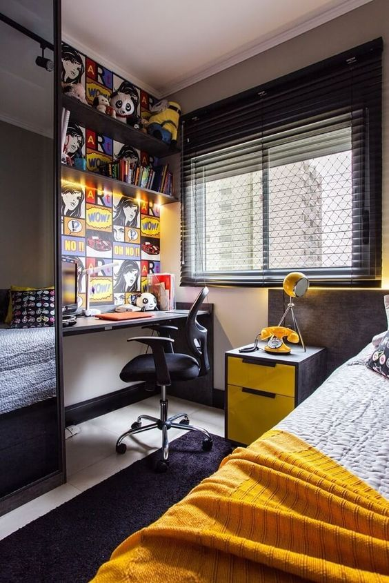 33 Cool Teenage Boy Room Decor Ideas Boy Bedroom Design Boys Room Design Boys Room Decor