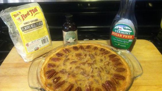 Low Carb Pecan Pie...freeze crust 10 min. then bake at 400' before filling.  Used 1 cup chopped pecans and 1/2 cup halved - broken pecan pieces.  Whipping cream - 1 cup 35% whipping cream to 3 tsp. splenda...could add a touch of vanilla