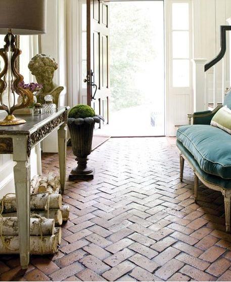 Interior Brick Tile Flooring : Brick pavers and bricks on pinterest
