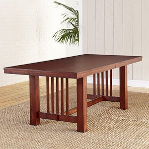 Mission dining table from world market dining oriented for Mission style dining table