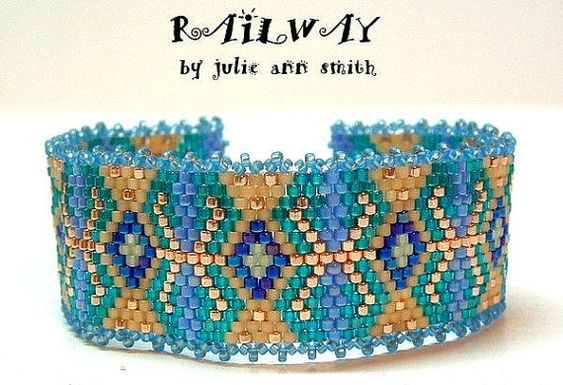 Julie Ann Smith Designs RAILWAY Bracelet par JULIEANNSMITHDESIGNS