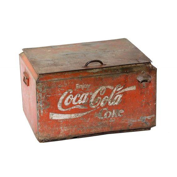 MD Alte Coca Cola K�hltruhe I 42x57x34 auf shop.moebeldepot.at