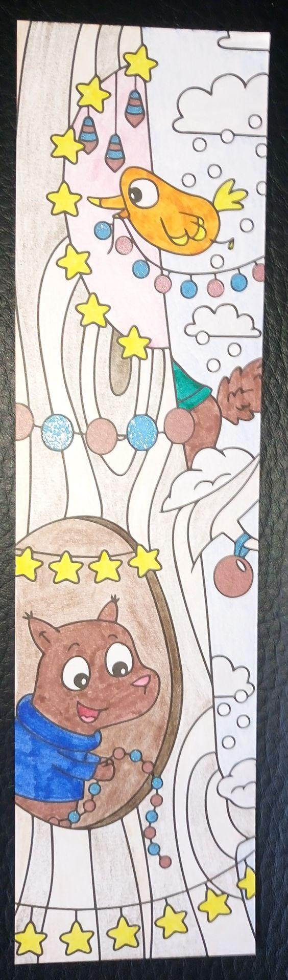 Colouring Mes marque-pages a colorier vive noel Arbol