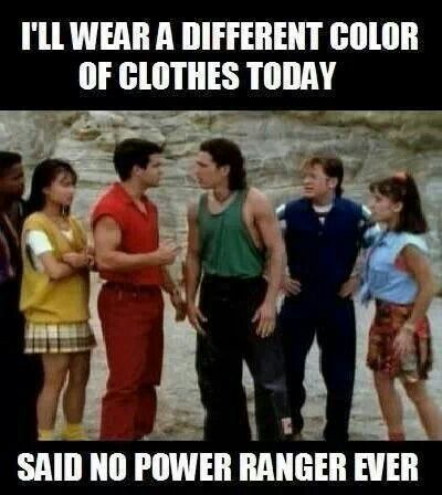 AWW Buggy is into the Power Rangers now and it just takes me back! I still want to be the pink Ranger...