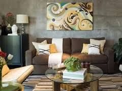 brown couch living room - Google Search