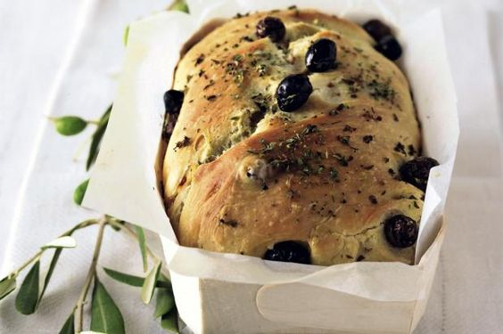 Olivebread Recipe in German. I tried this today. It really good and simple!