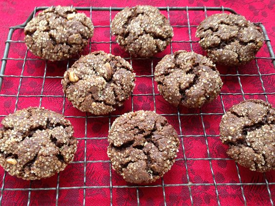 "Molasses-ginger cookies: I was out to make it a more ""adult"" cookie, and boy did I succeed. Some extra spices including a pinch of cayenne pepper, a little cocoa powder, espresso and pecans did the trick.These are some intense cookies, and I mean that in the best possible way. You'll definitely blow the minds of any butter-lovers who taste them, because you'd really never know these are vegan cookies.  (whole wheat pastry flour)"