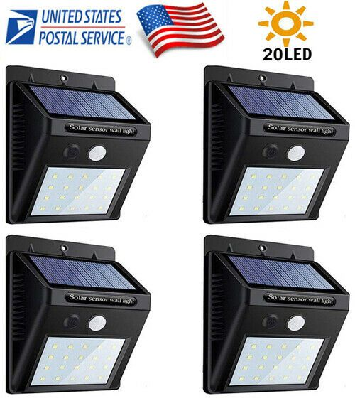 Details About New High Efficiency Outdoor Solar Lights Sensor Wall Light Waterproof Yard Lamp In 2020 Outdoor Solar Outdoor Solar Lights Solar Lights