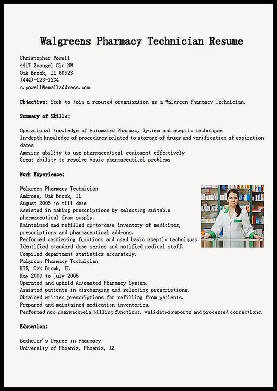Example Resume Training Pharmacy Technician Examples Resume Cv Pharmacy Technician Pharmacy Tech Pharmacy Fun