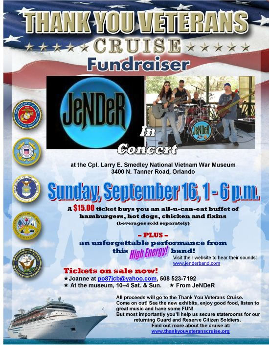 Fundraiser - September 16, 2012 - Orlando, FL  www.thankyouveteranscruise.org