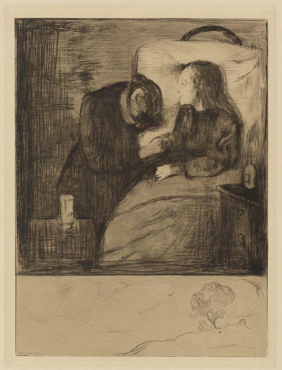 Edvard Munch,  1894 The sick girl