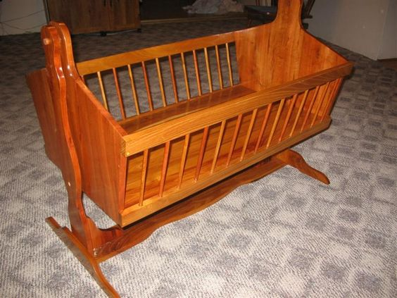 Building a Baby Cradle | Baby cradle plans - WOOD Community | Baby | Pinterest | Initials ...
