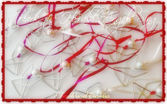 Paperclip Angel-A quick and easy holiday craft.