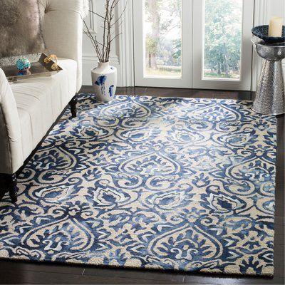 Ophelia Co Edmeston Hand Tufted Wool Royal Blue Area Rug Colorful Rugs Blue Area Rugs Rugs