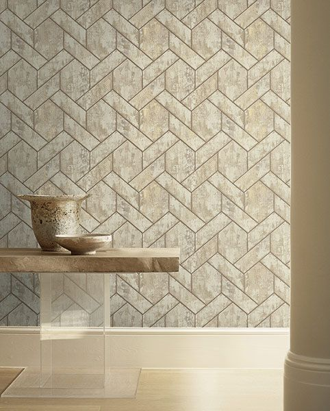 Here Is A Different Way To Add Marble Without The Cost Wallpaper With A Faux Marble Tiles Design Plus It I Textured Wallpaper Canvas Texture Wall Coverings