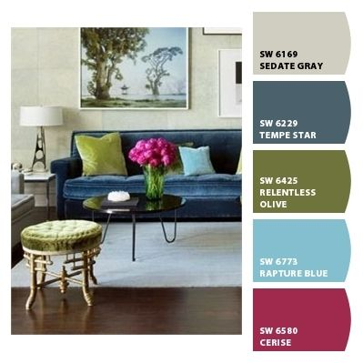 Colour Schemes To Go With Blue Sofa Paint Colors From Chip It Sherwin Williams Color Combinations 399 X 399 Blue Sofas Living Room Blue Sofa Living Room Color