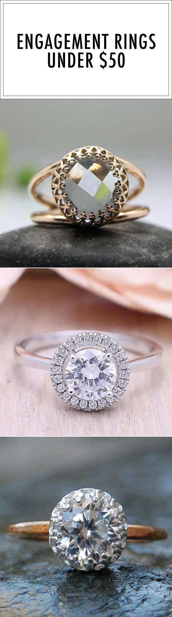 26 Stunning Engagement Rings That Cost Under 50 Cheap Wedding Rings Engagement Inexpensive Wedding Rings Budget Engagement Rings