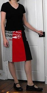 skirt made from old T-shirts