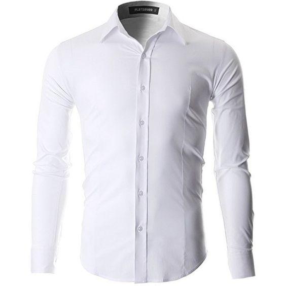FLATSEVEN Men's Slim Fit Casual Button Down Dress Shirt Long ...
